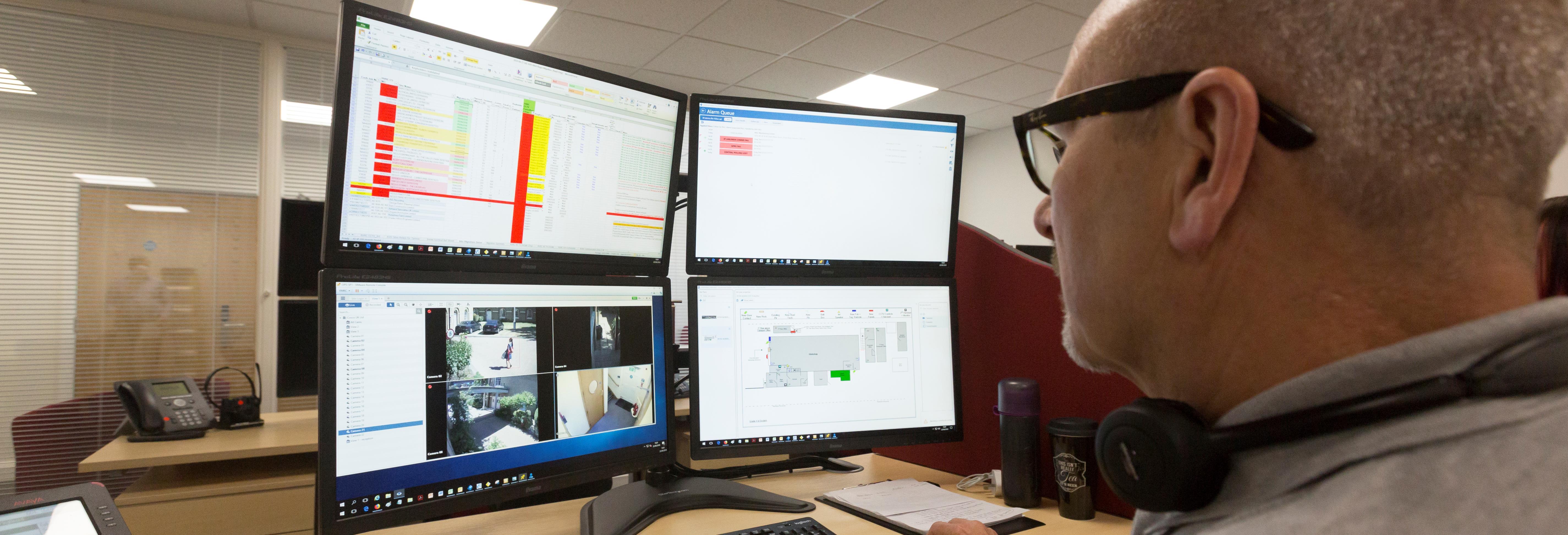 Operator Monitoring CCTV